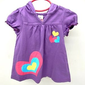 HANNA ANDERSSON LAVENDER SHORT SLEEVE TOP 9-12 M